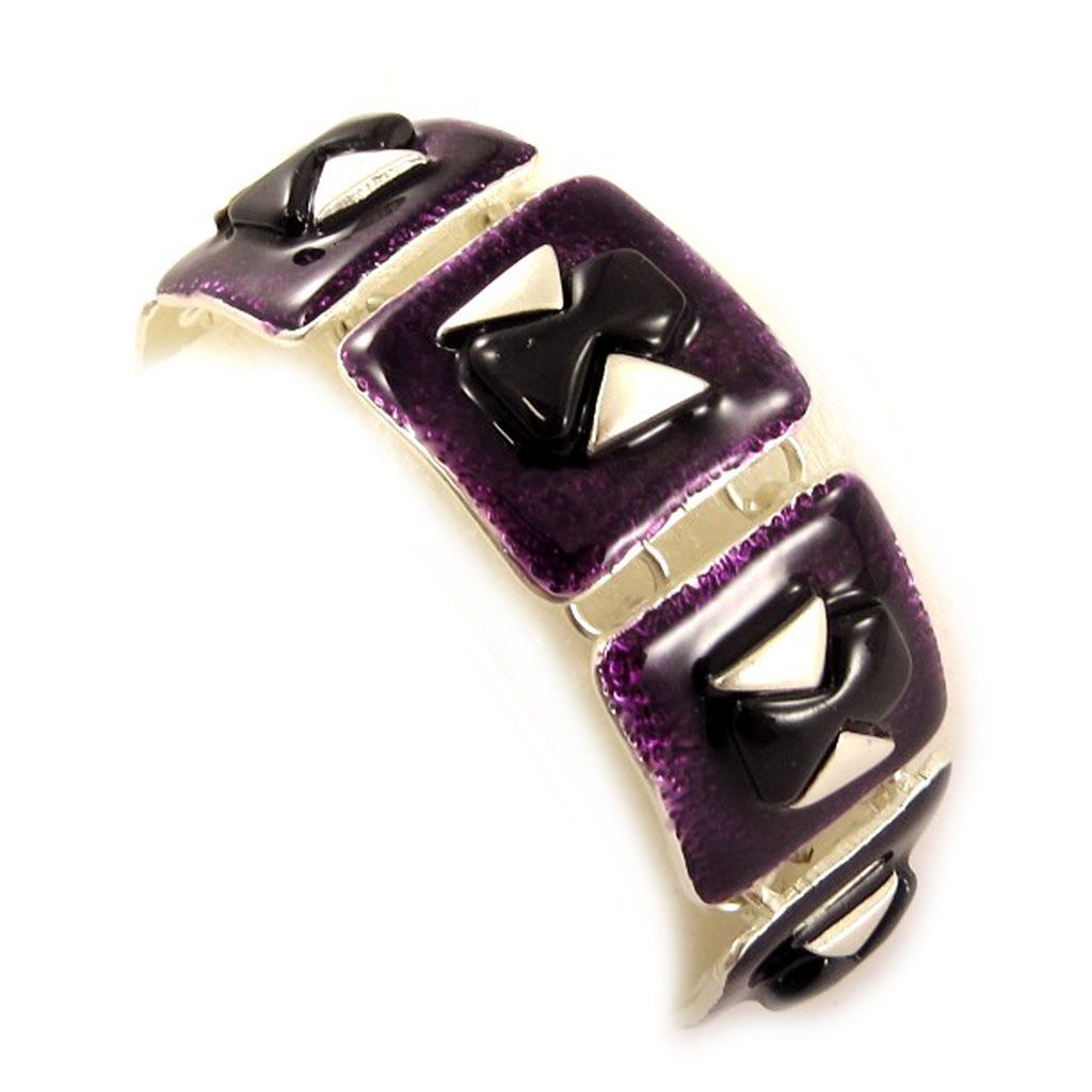 Bracelet Créateur \'DV - Brasilia\' Violet - [C6463]