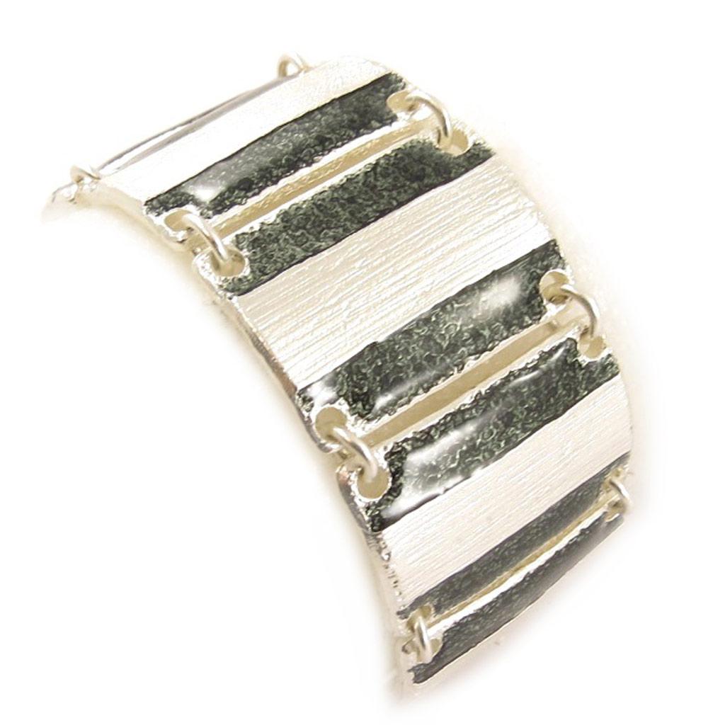 Bracelet Créateur \'DV - Aurore\' Noir Argenté - [C6623]