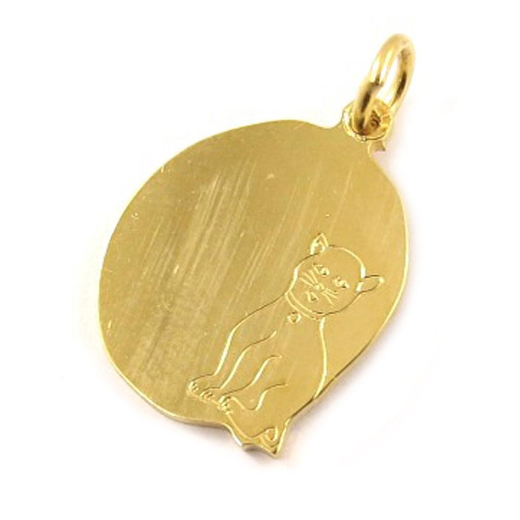 Médaille Plaqué Or \'Message Chat\'  - [C6893]