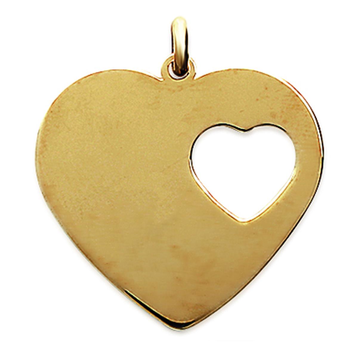 Pendentif Plaqué Or \'Love \' doré - 31x28 (à Graver) - [C7261]