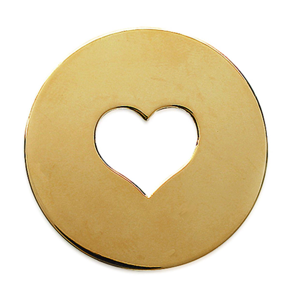 Pendentif Plaqué Or \'Love \' doré - 35 mm (à Graver) - [C7263]