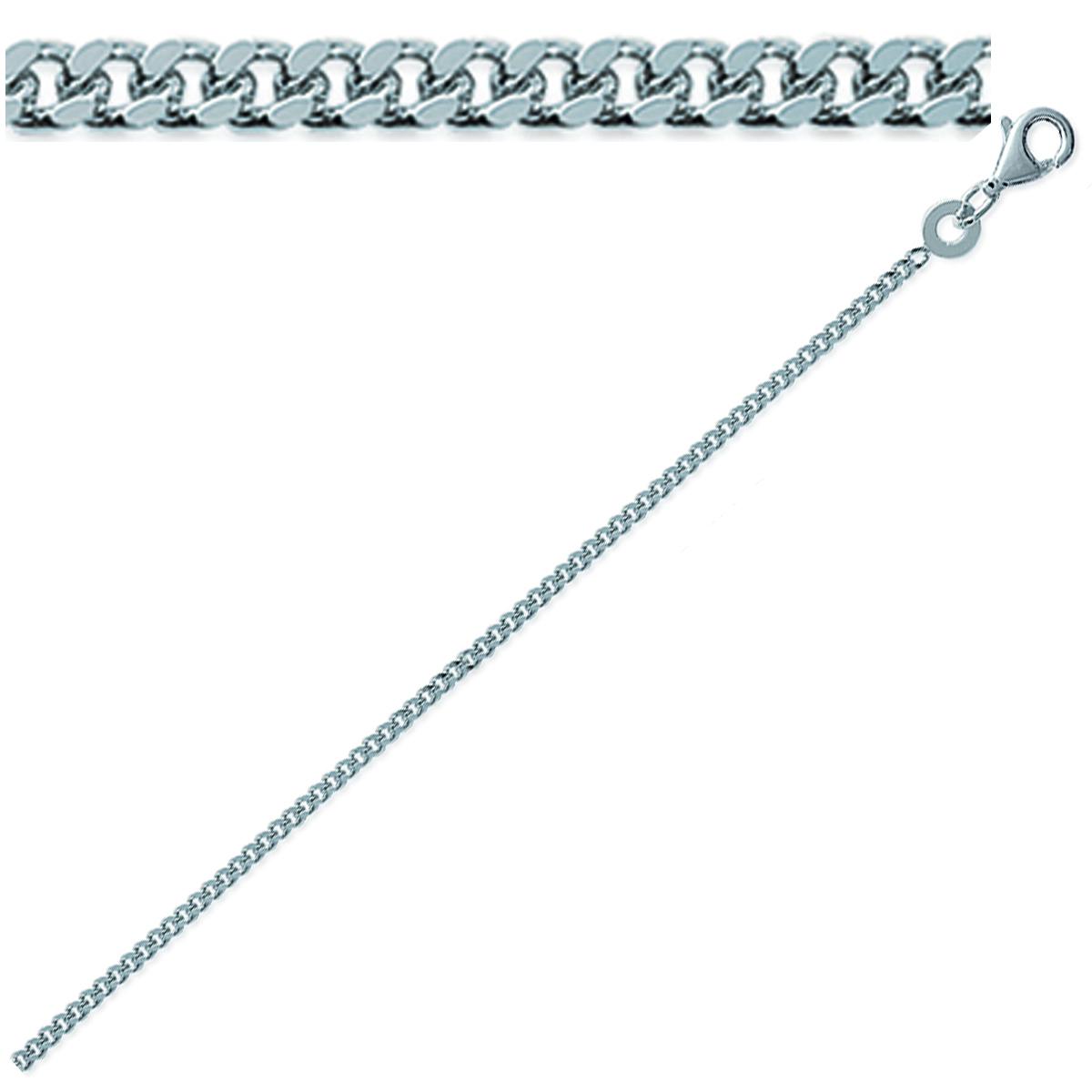 Chaine Argent \'Maille Gourmette\' 50 cm 16 mm - [C7463]