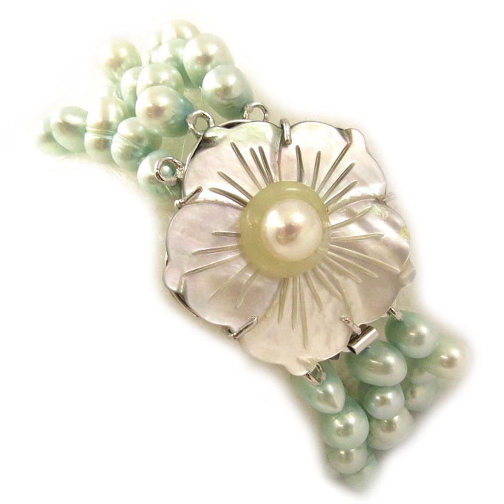 Bracelet \'Anaïs Biwa\' Turquoise - [C8935]