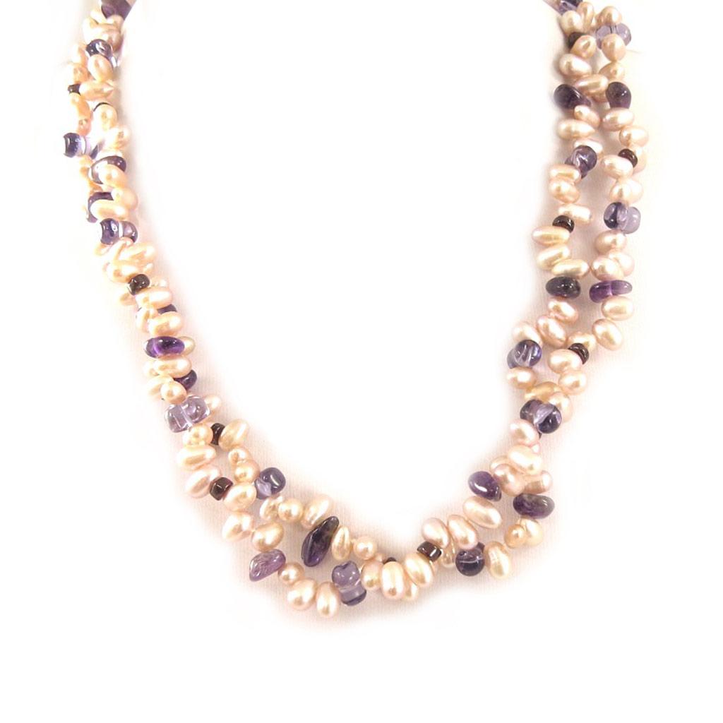 Collier \'Biwa Gorgeous\' Rose Violet - [C9010]