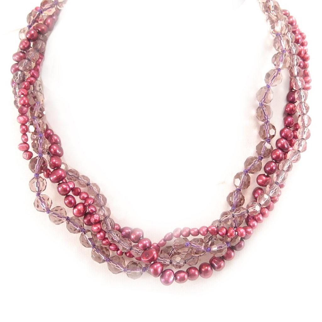 Collier \'Biwa Gorgeous\' Rouge Violet - [C9156]
