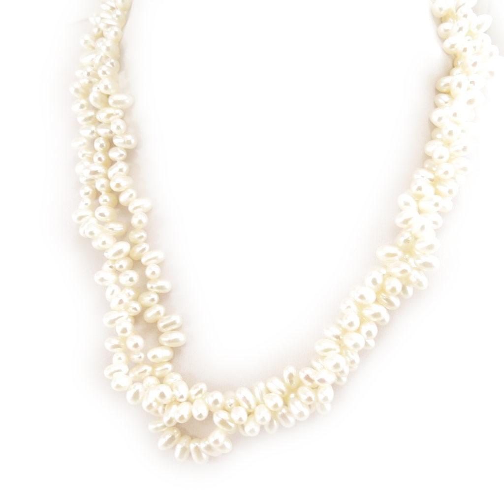 Collier \'Biwa Gorgeous\' Blanc - [C9157]