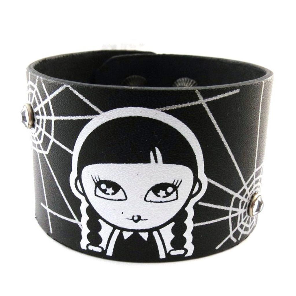 Bracelet cuir \'Bad Alice\' Noir - [C9211]