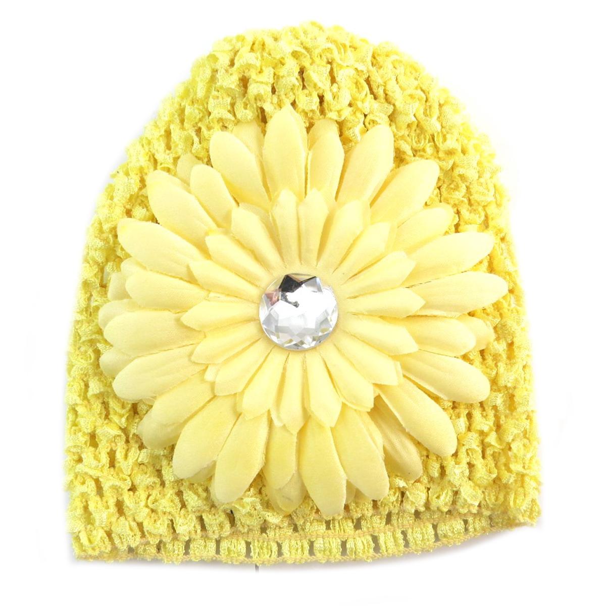 Bonnet enfant \'Petite Lily\' jaune paille - [Q5222]