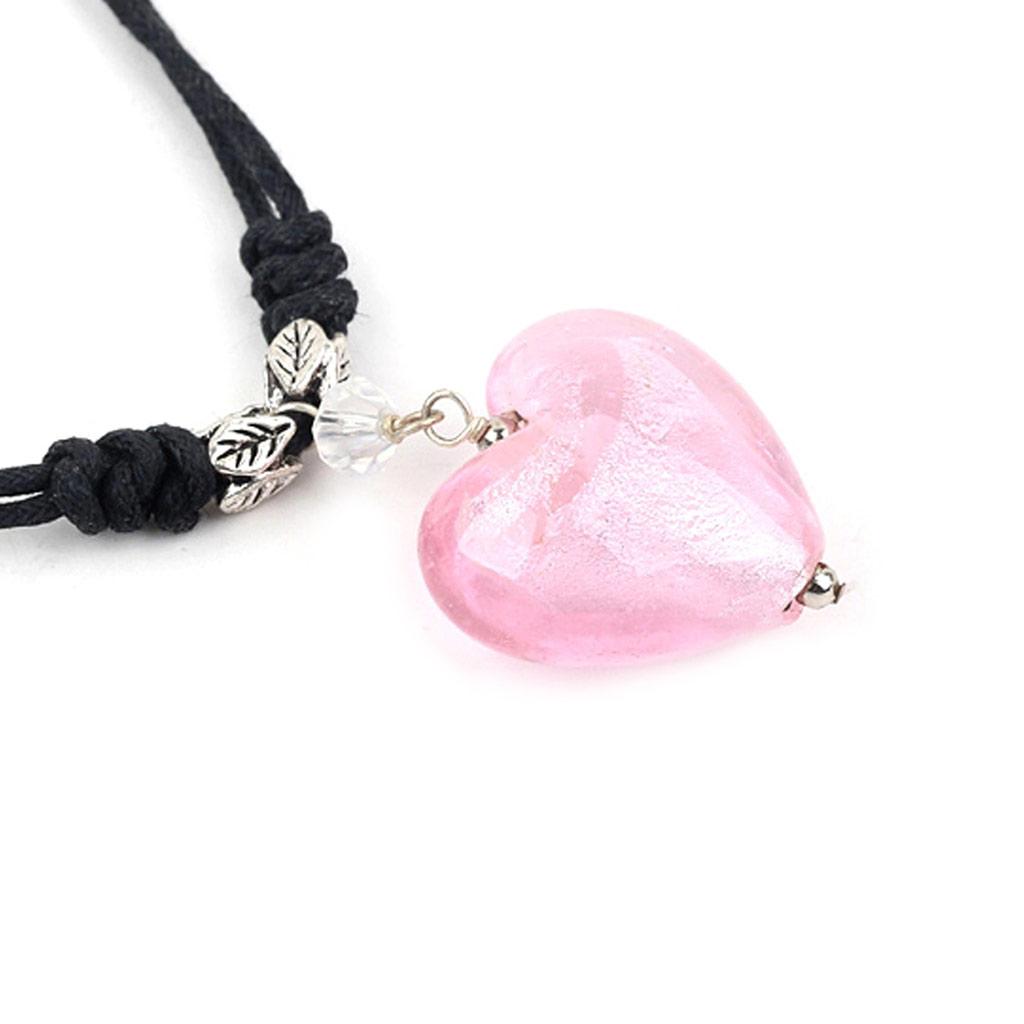 Collier \'Minéralia\' coeur rose - [K1794]