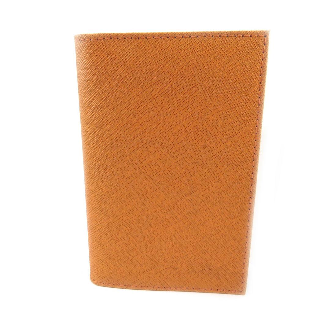 Porte Papiers de voiture Cuir \'Frandi\' orange (ultra plat) - [L3450]