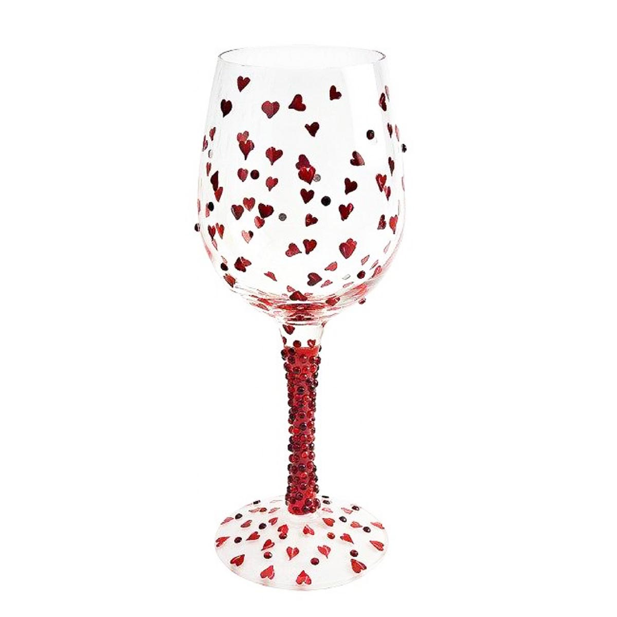 Verre à vin créateur \'Red Hot - Rouge Passion\' doré - 225 cm - [N5687]