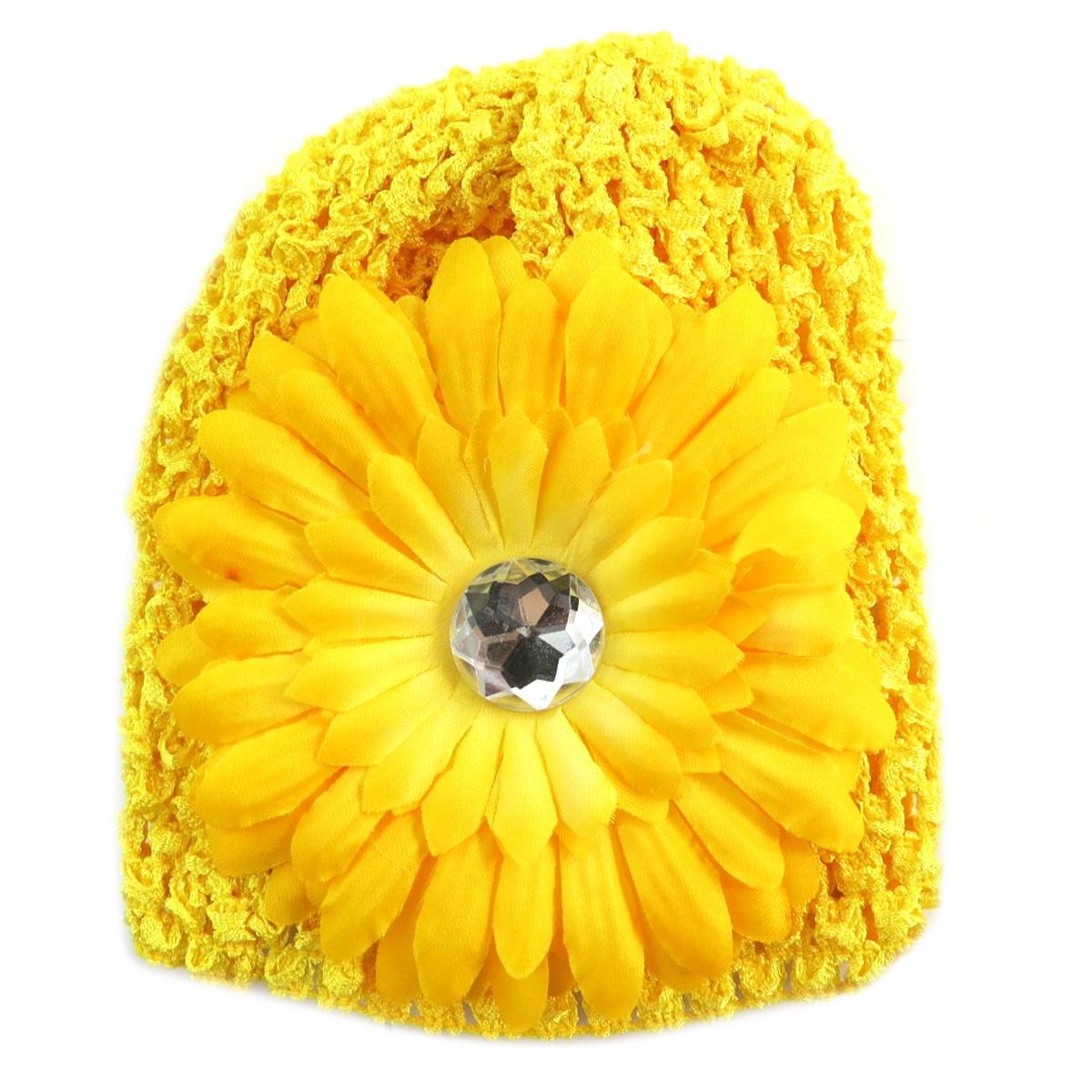 Bonnet enfant \'Petite Lily\' jaune - [Q5227]