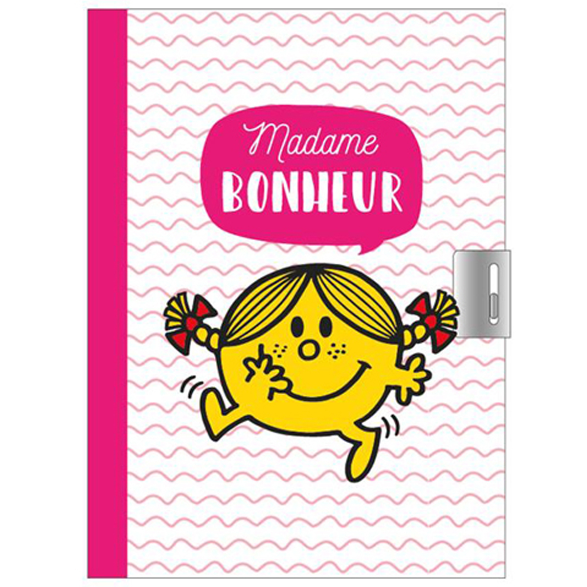 Journal Intime \'Monsieur Madame\' rose (Mme Bonheur) - 17x125 cm - [Q9302]