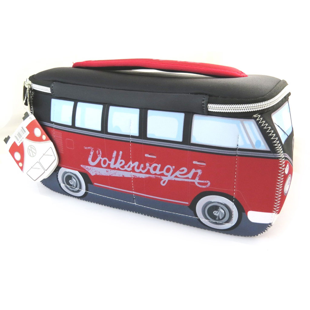 Trousse de toilette \'Volkswagen\' rouge noir - 29x13x10 cm - [N4532]