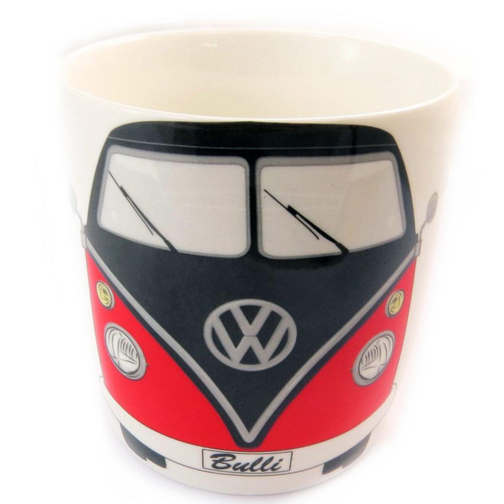 Mug porcelaine \'Volkswagen\' blanc rouge - 93x85 mm (37 cl) - [N4534]
