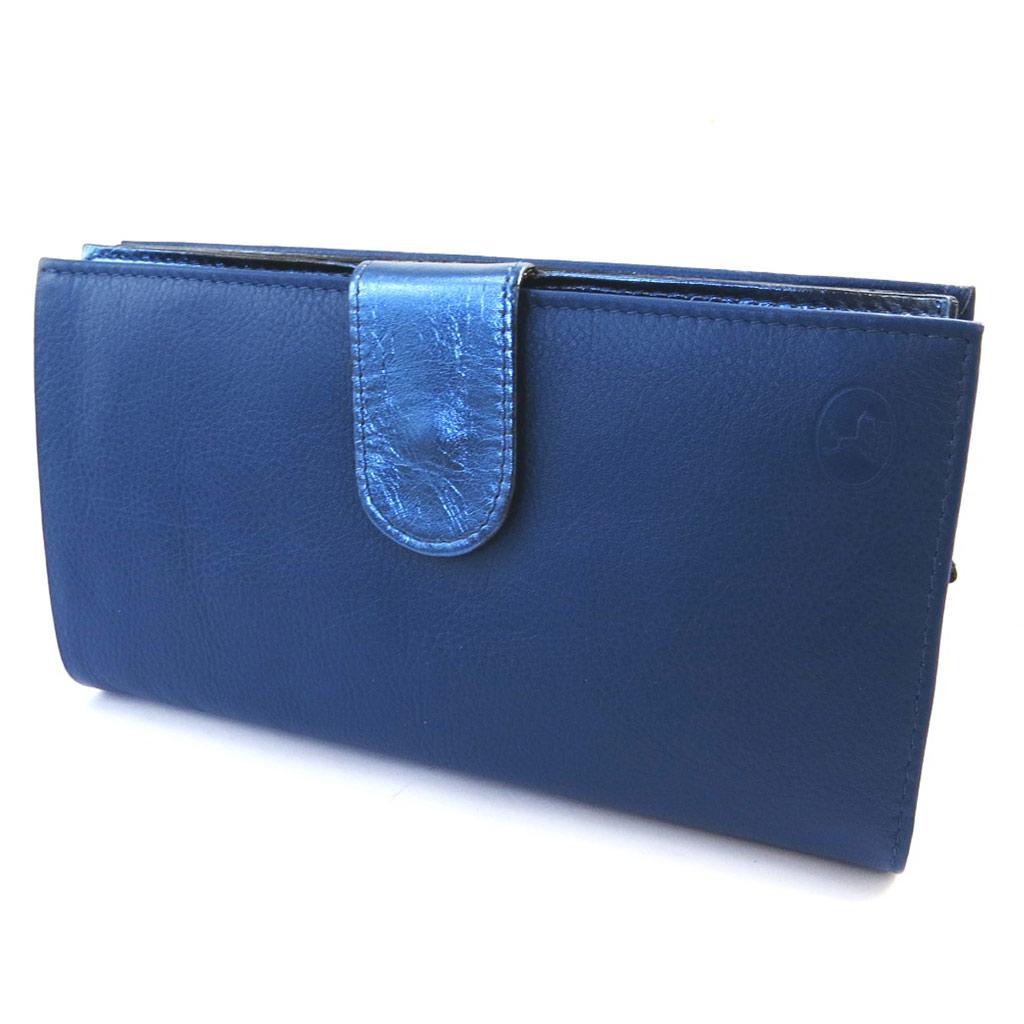 Compagnon Cuir \'Frandi\' bleu bicolore - [M6615]