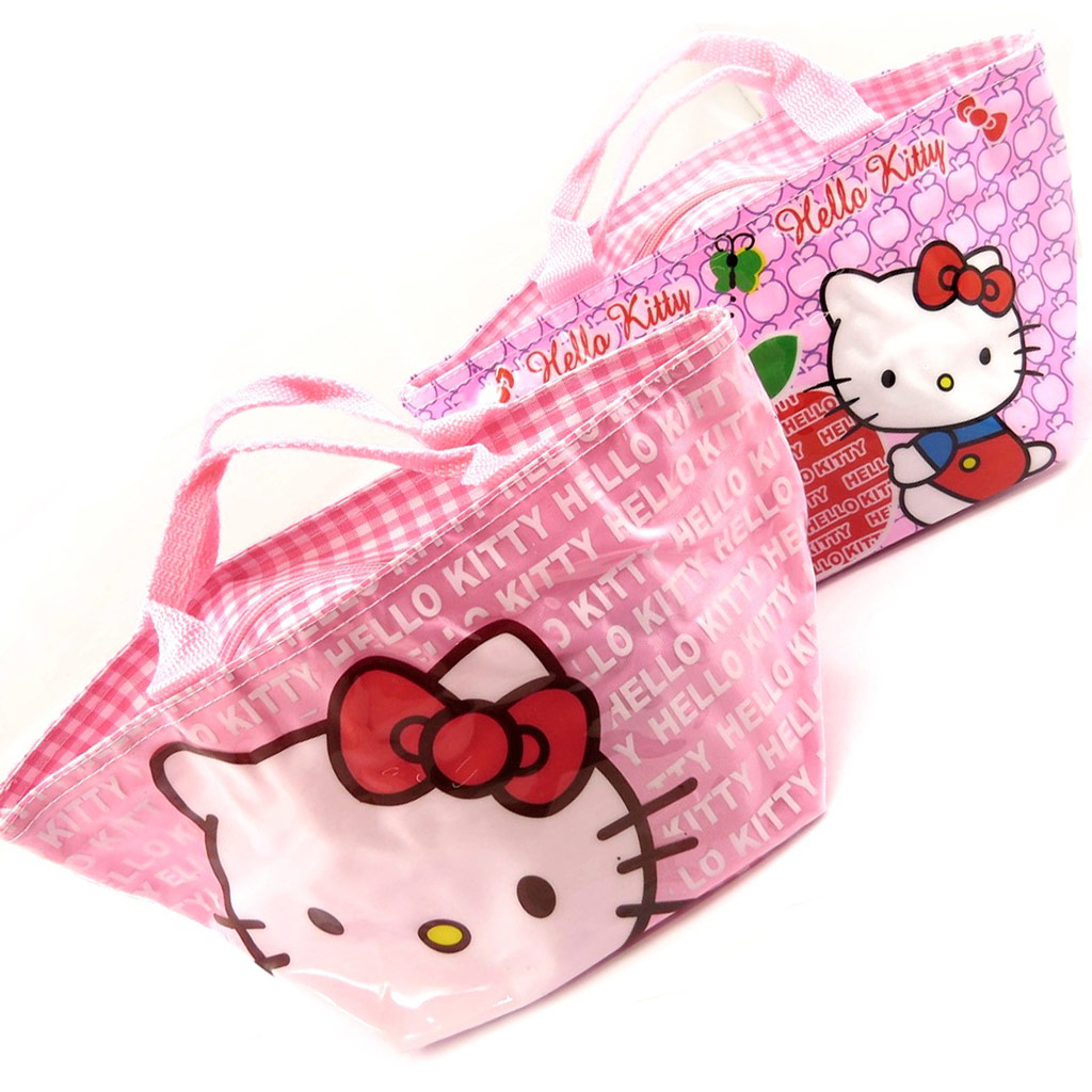 2 sacs shopping \'Hello Kitty\' rose  - [K8309]