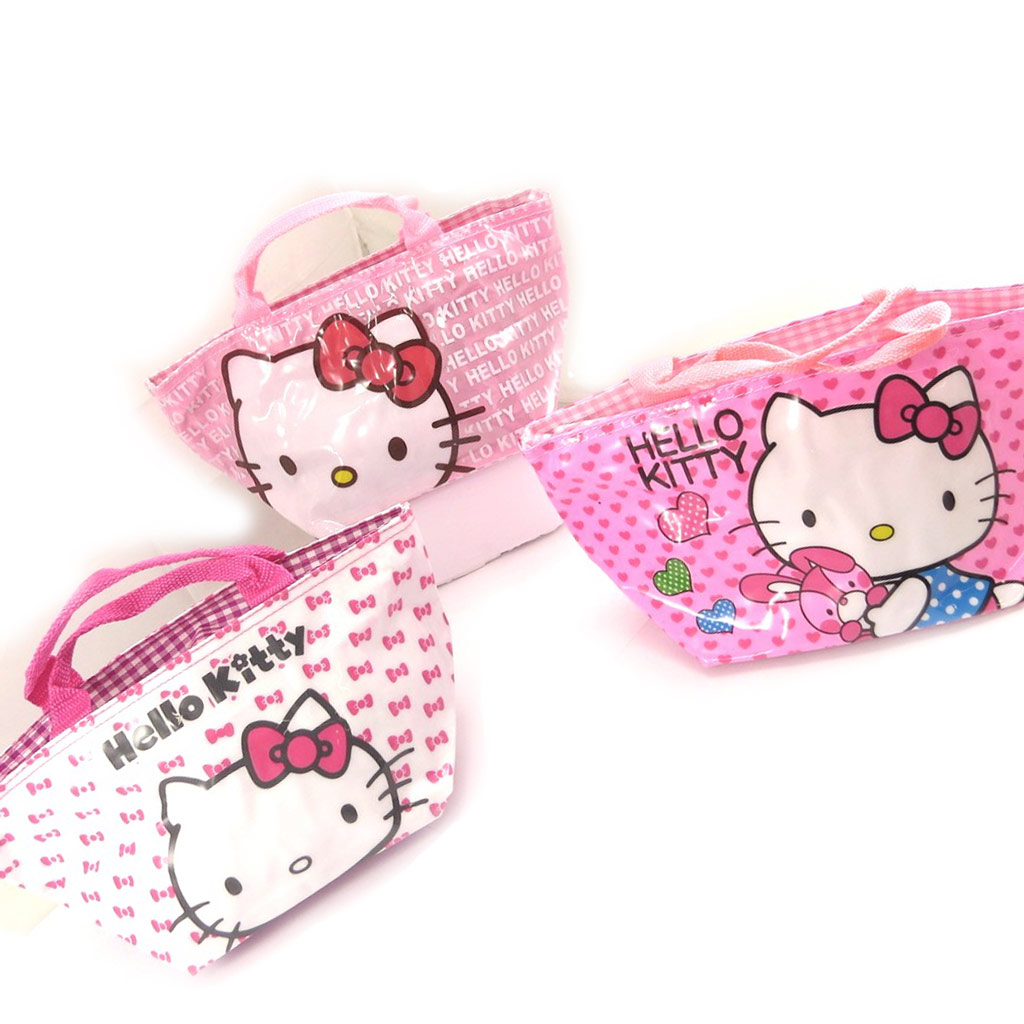 3 sacs shopping \'Hello Kitty\' rose - [K8311]