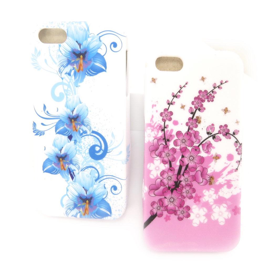 2 coques créateur \'Floralies\' Iphone 5G - [K8344]
