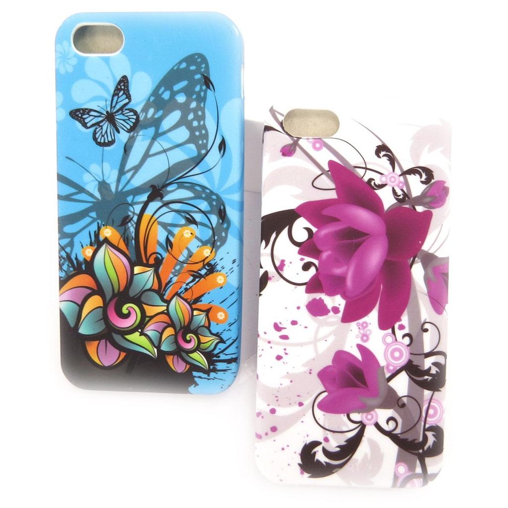 2 coques créateur \'Floralies\' Iphone 5G - [K8348]