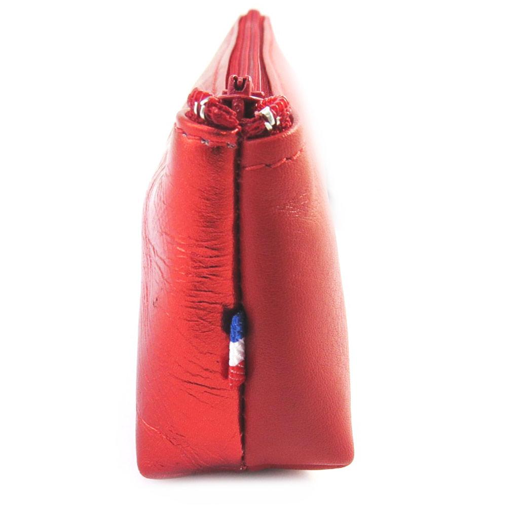 Trousse Cuir \'Frandi\' rouge bicolore - [M6643]