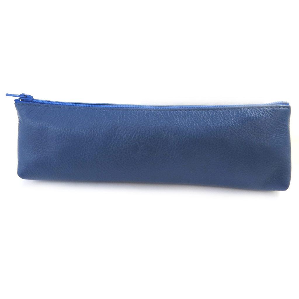 Trousse Cuir \'Frandi\' bleu bicolore - [M6644]