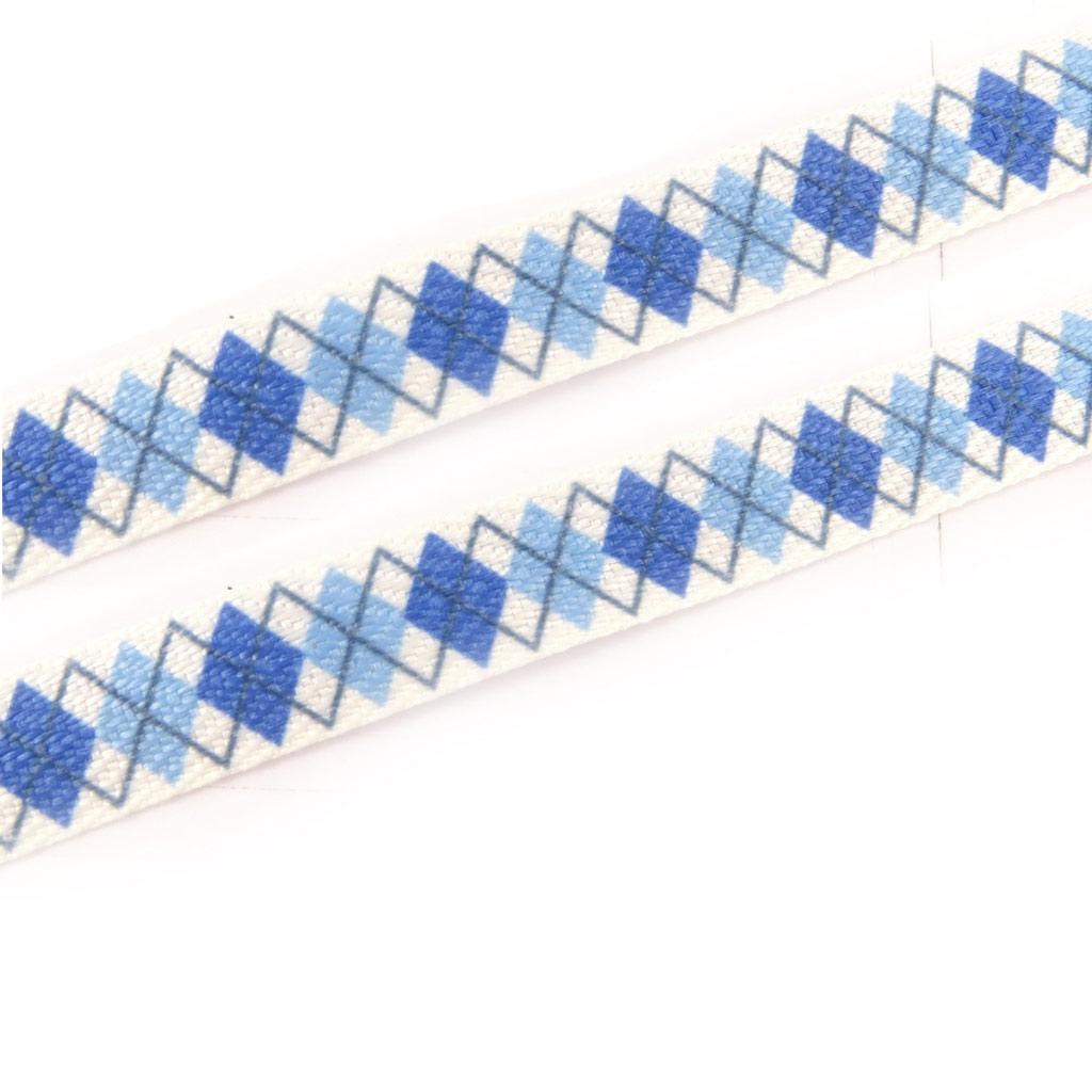 2 paires de lacets \'Caméléon\' bleu - [K8375]