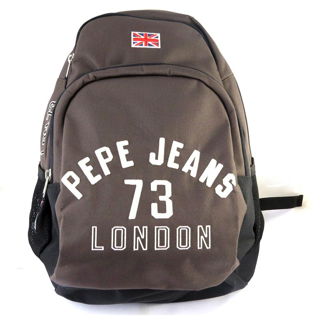 Sac à dos double \'Pepe Jeans\' marron (46x33x16 cm) - [M6894]