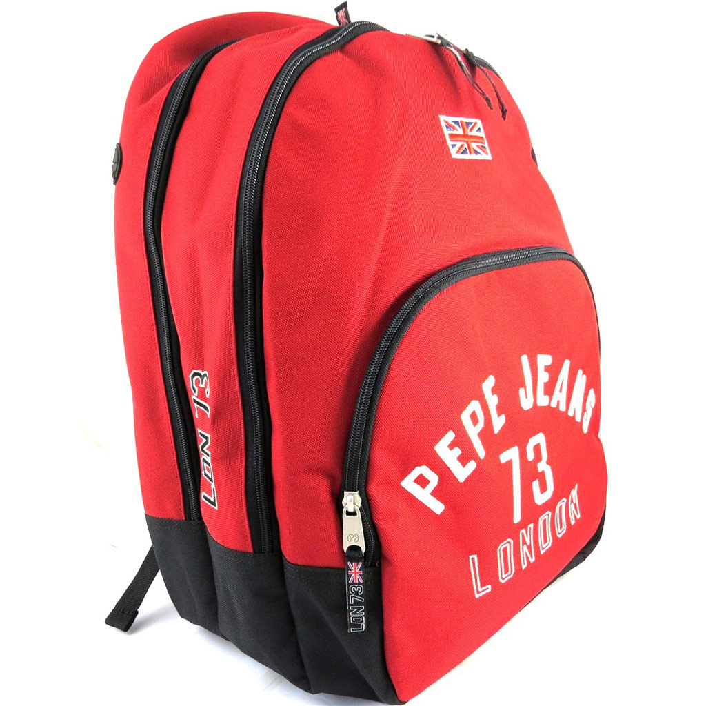 Sac à dos double \'Pepe Jeans\' rouge (42x30x145 cm) - [M6899]