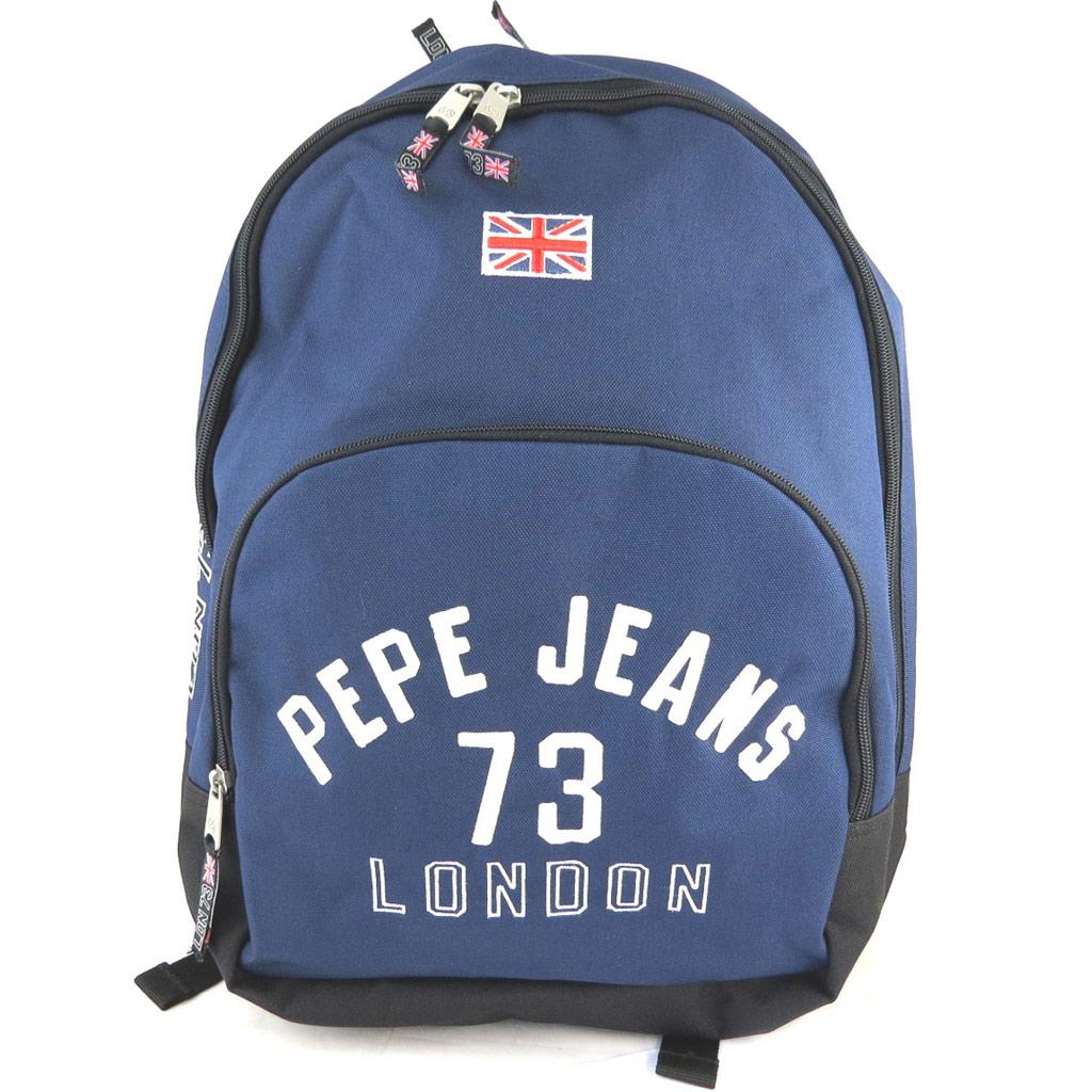 Sac à dos double \'Pepe Jeans\' marine (42x30x145 cm) - [M6900]