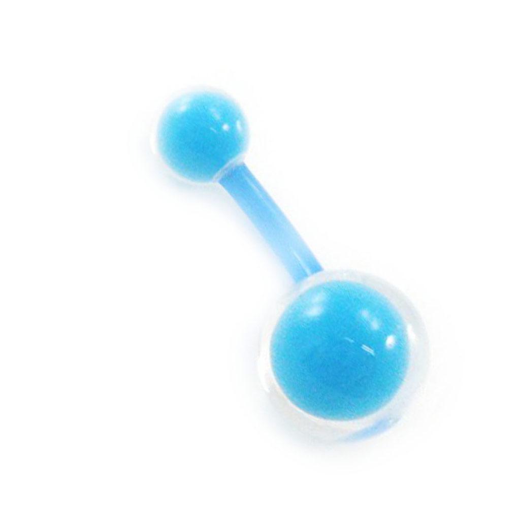 Body Piercing \'Coloriage\' bleu - [I9479]