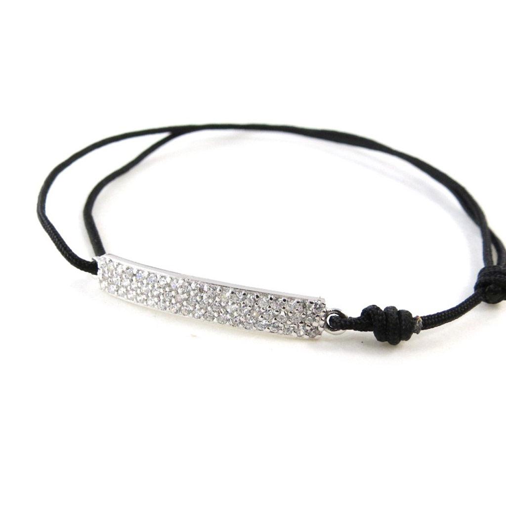 Bracelet Argent \'Déesse\' blanc argenté (rhodié) - 25x5 mm - [I9902]
