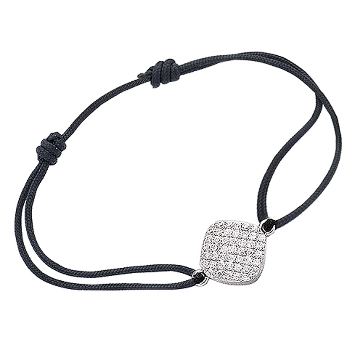 Bracelet Argent \'Déesse\' blanc argenté (rhodié) - 11x11 mm - [I9903]