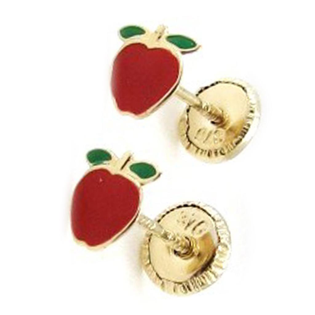 Boucles d\'Oreilles \'Pommes\' (Or - 9 carats) - [I9990]