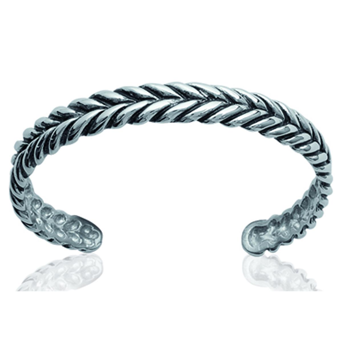Bracelet Acier \'Chorégraphie\' argenté - 8 mm - [J0105]