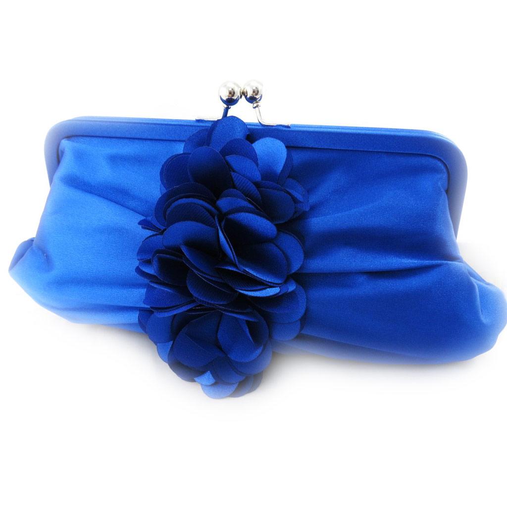Pochette de cérémonie \'Scarlett\' bleu - [J0231]