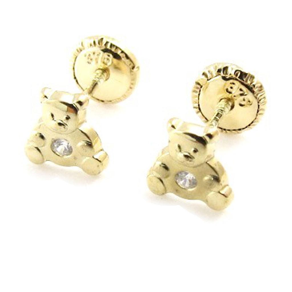 Boucles d\'Oreilles \'Teddies\' (Or - 9 carats) - [J0423]