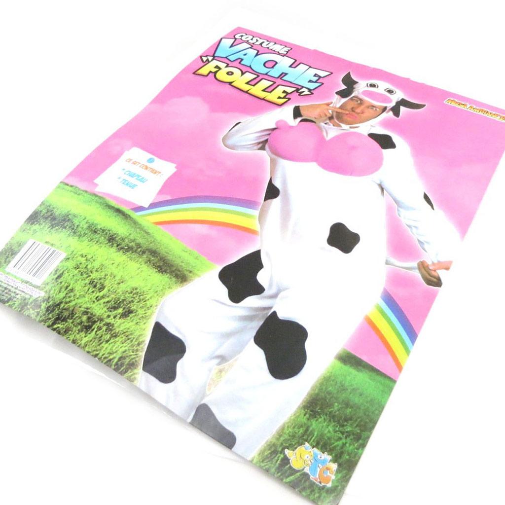 Déguisement de \'Sacré Vache\' blanc noir - [J0660]