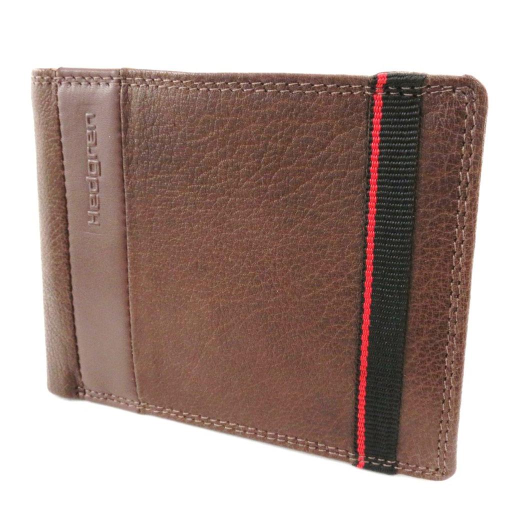 Portefeuille italien cuir \'Hedgren\' marron grainé - [J1542]