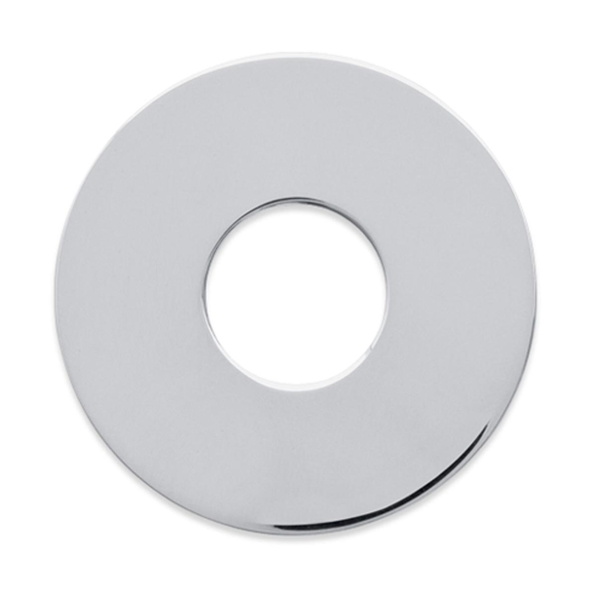Pendentif Argent \'Ecu\' argenté - 35 mm (à Graver) - [F0300]