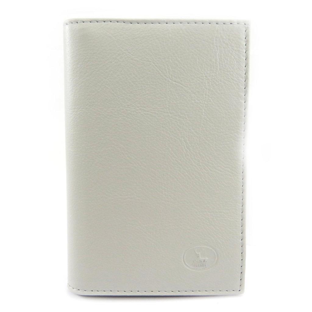 Porte Papiers de voiture Cuir \'Frandi\' gris clair (ultra plat) - [L3467]