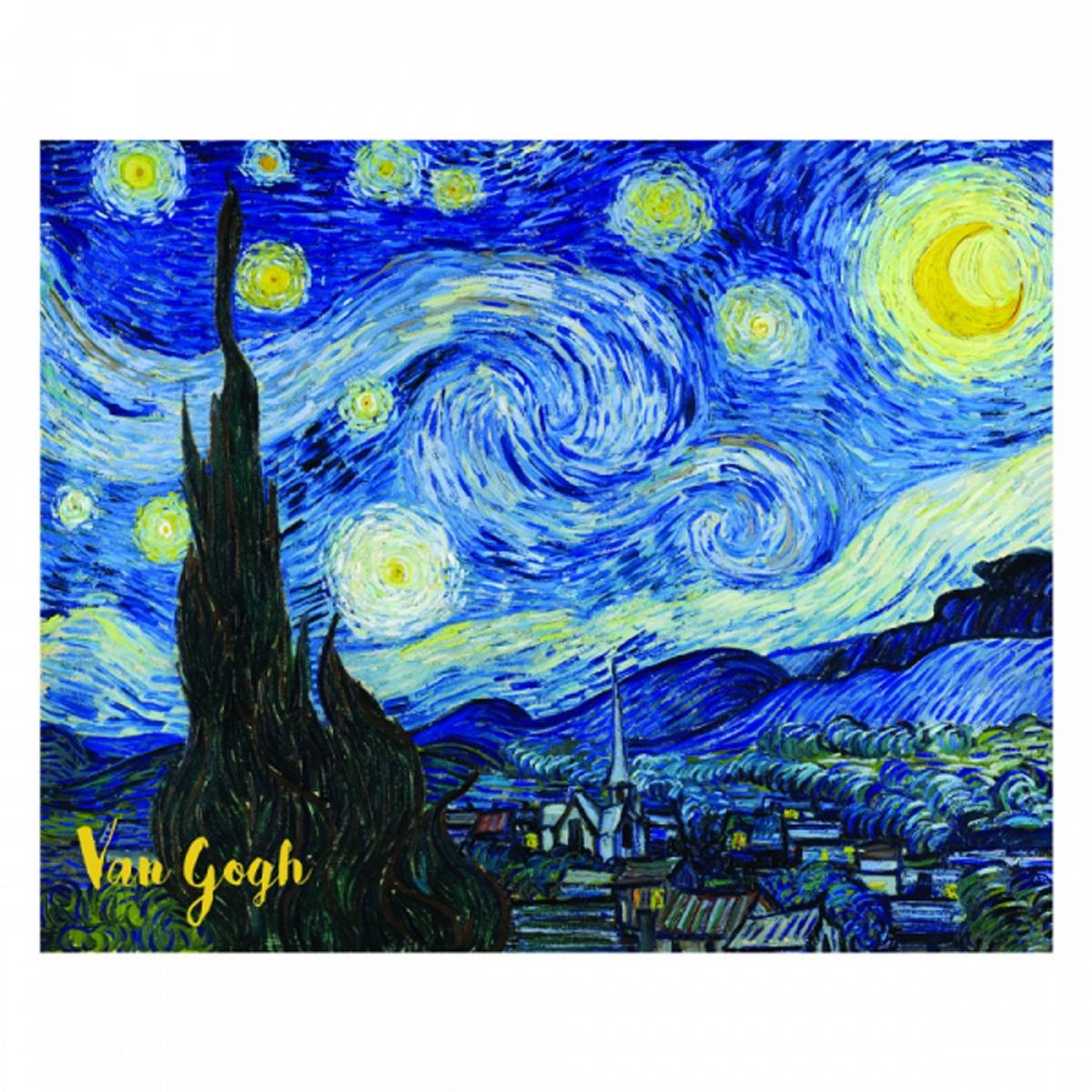 Reproduction \'Vincent Van Gogh\' (Nuit étoilée) - 30x20 cm - [R2017]