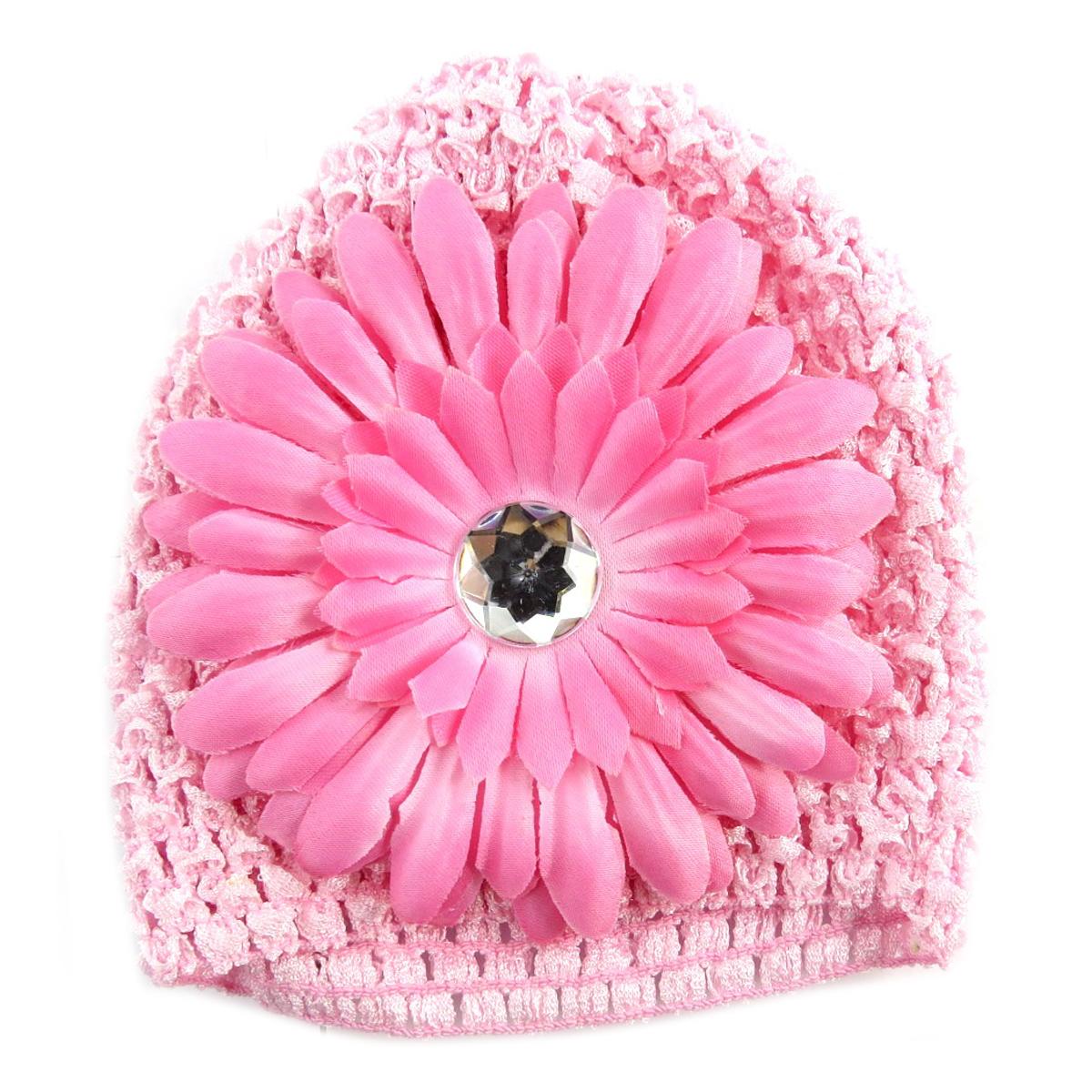 Bonnet enfant \'Petite Lily\' rose - [Q5231]