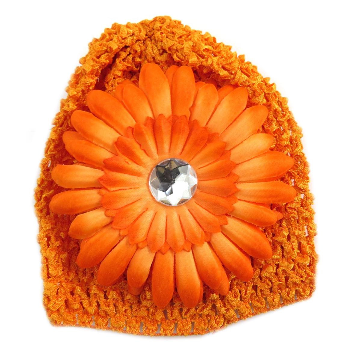 Bonnet enfant \'Petite Lily\' orange - [Q5233]