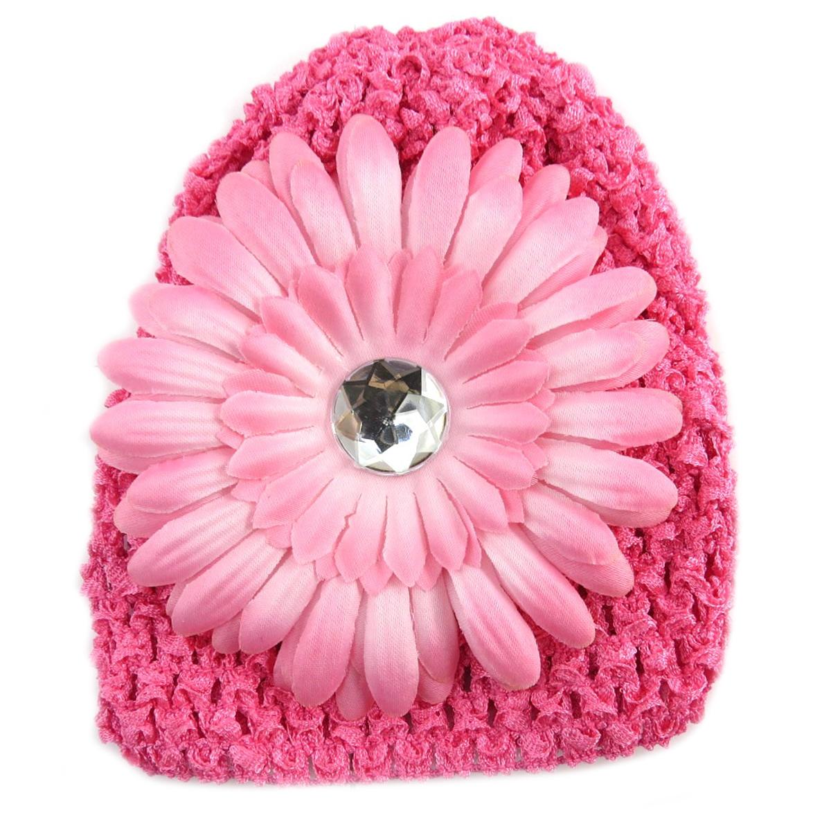 Bonnet enfant \'Petite Lily\' rose - [Q5234]