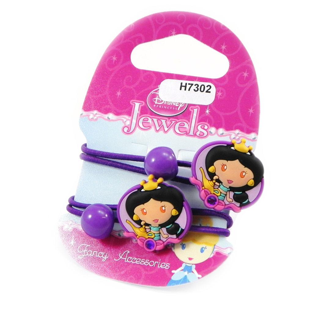 Paire d\'élastiques \'Princess Jewels\' violet  - [H7302]