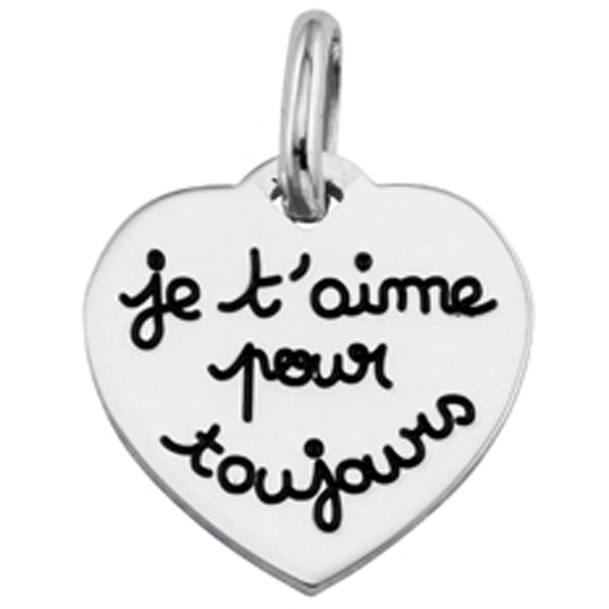 Pendentif argent \'Je t\'aime pour toujours\'  - [L0593]