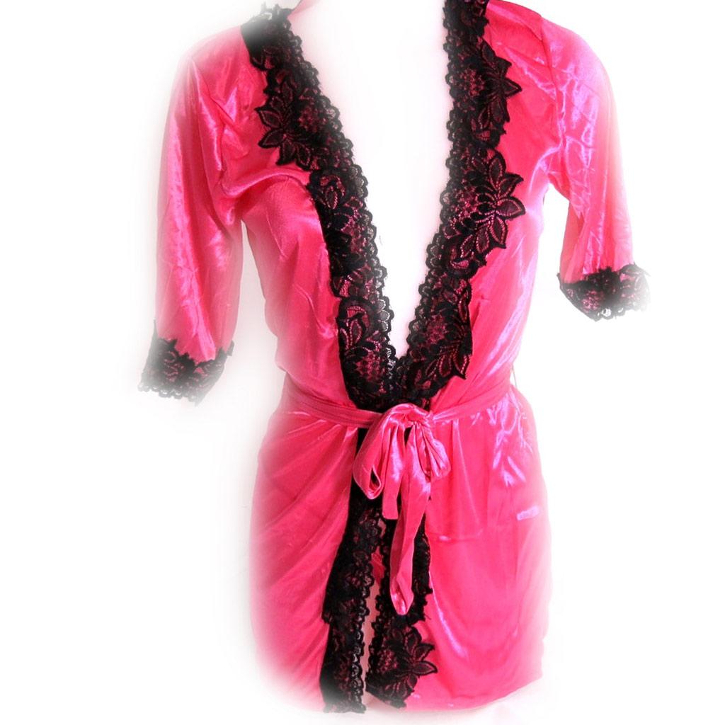 Kimono \'Scarlett\' rose noir - [K8463]