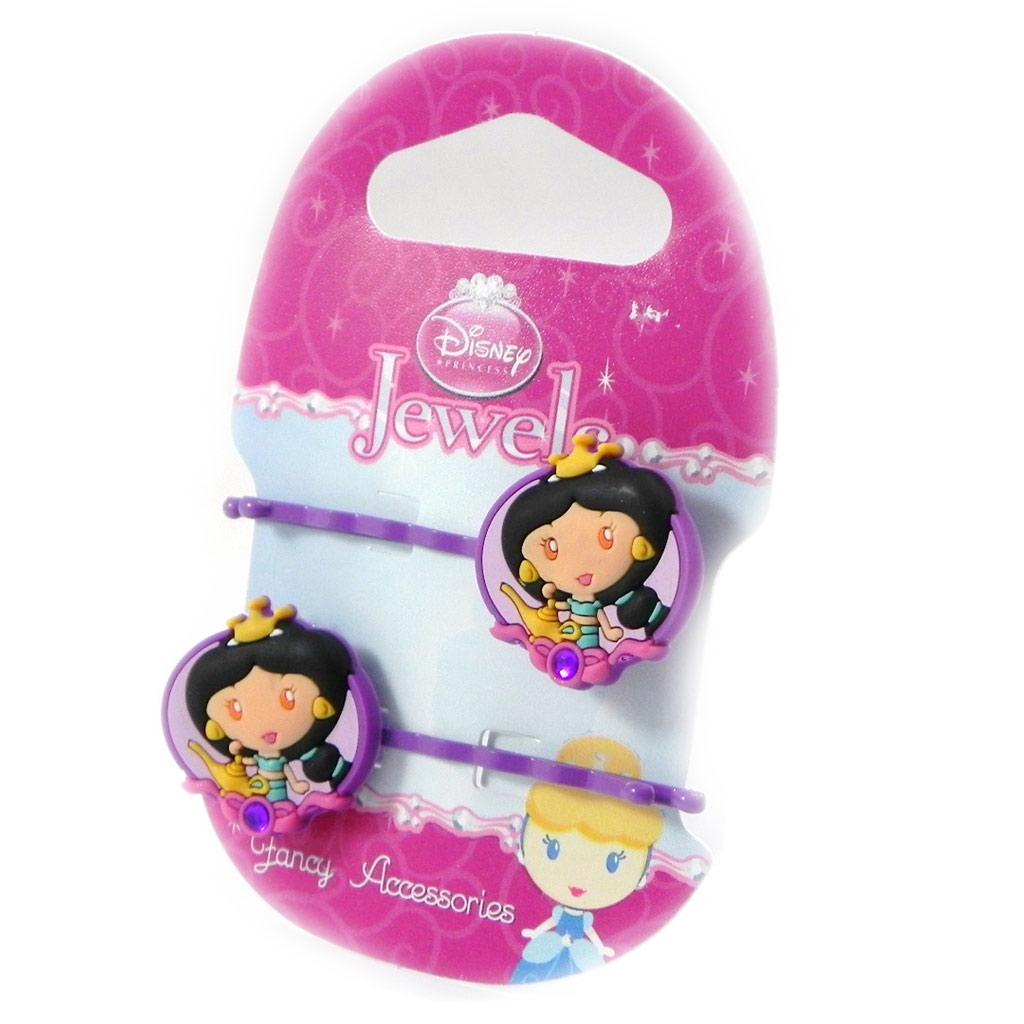 Paire de barrettes \'Princess Jewels\' violet - [H7310]