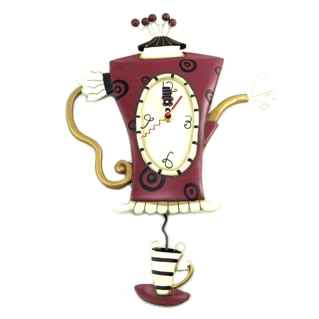 Horloge Murale \'Allen Designs\' marron beige (thé bouillant) - 51x35 cm - [P8886]